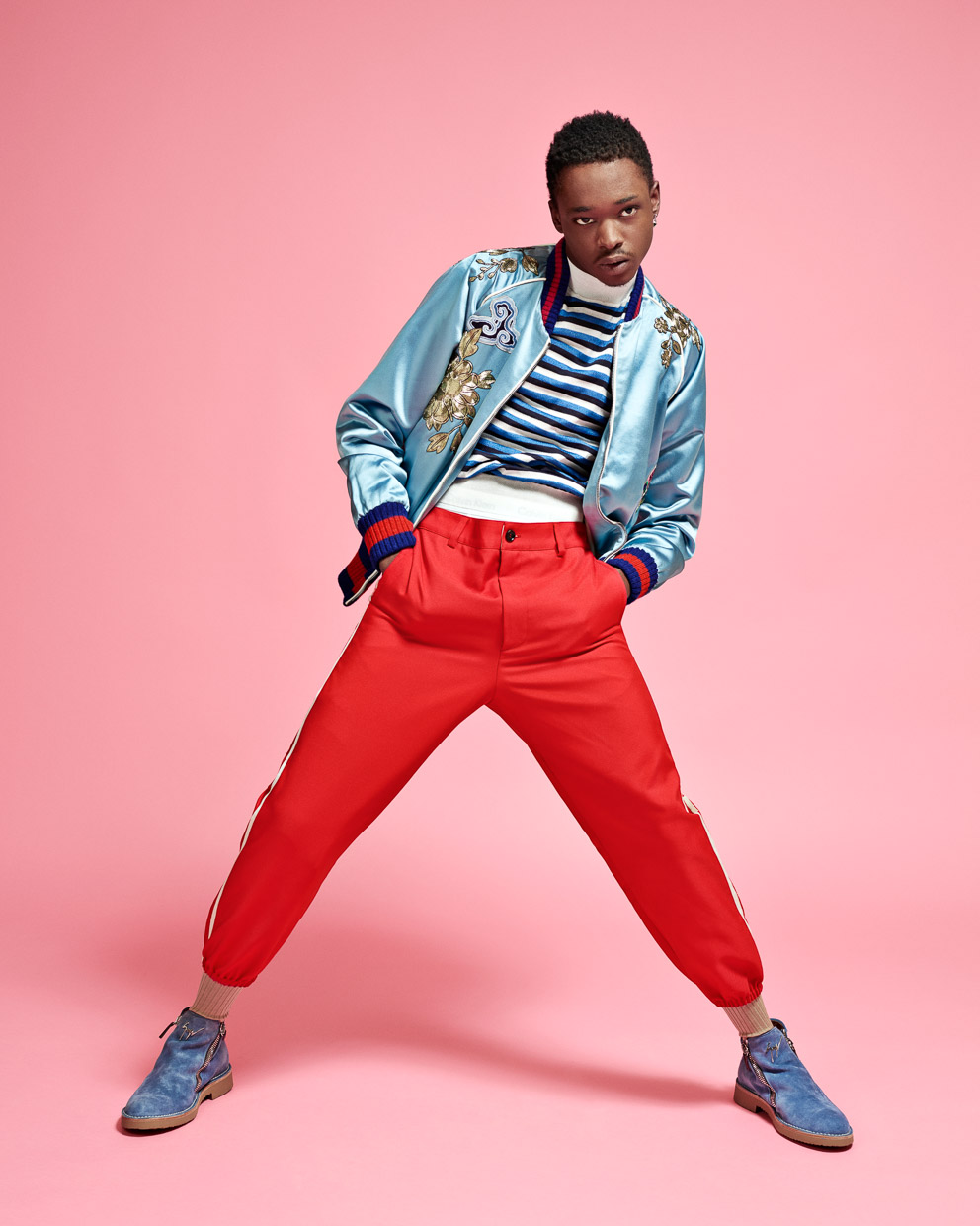 Ashton Sanders. Guardian Weekend.