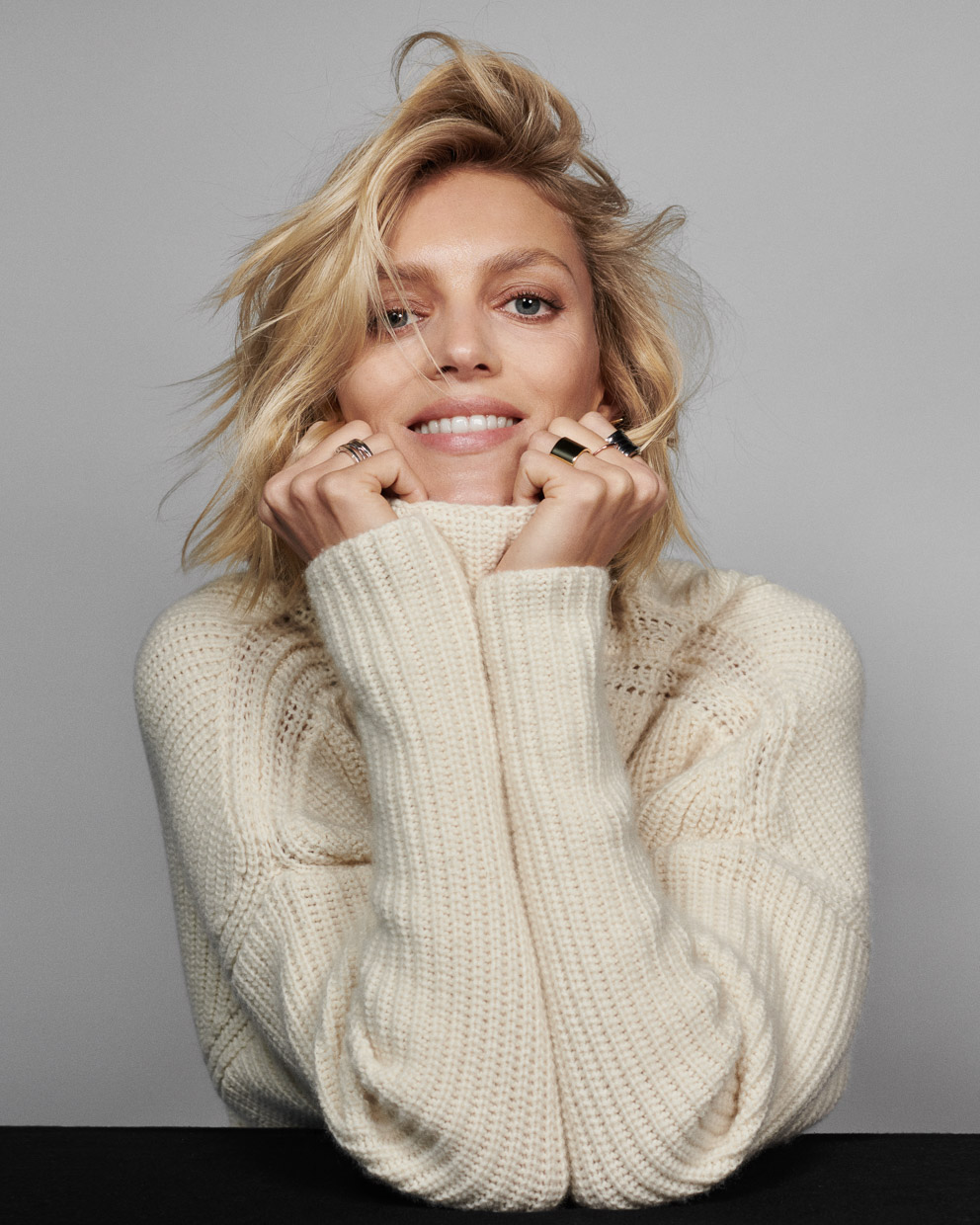Anja Rubik. The Times.
