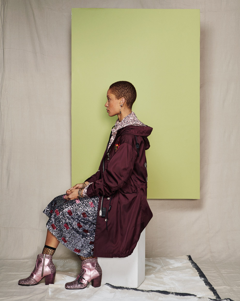 Adwoa Aboah. The Times Magazine.