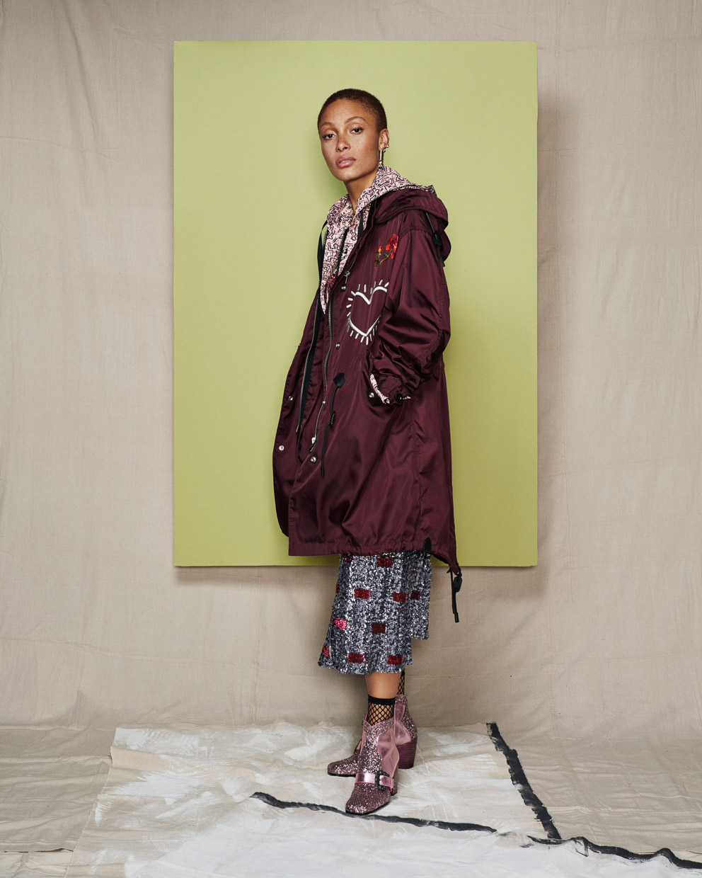 Adwoa Aboah, model. The Times Magazine.