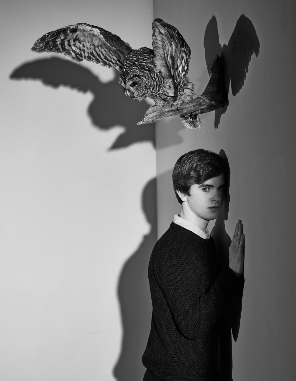 Freddie Highmore.  A&E Television Campaign.