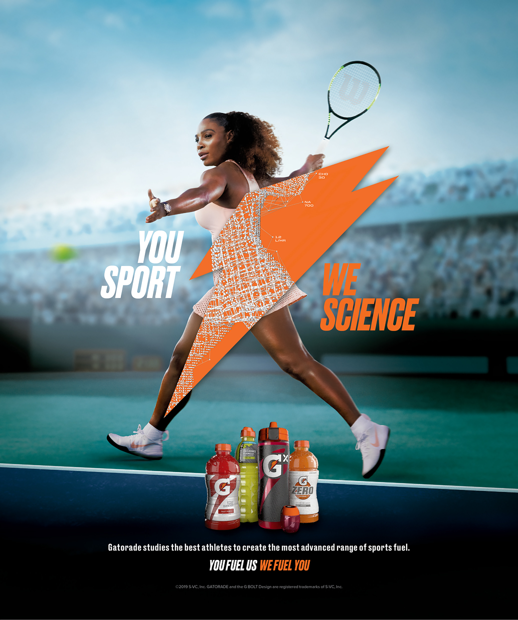 Serena Williams. Gatorade Campaign.