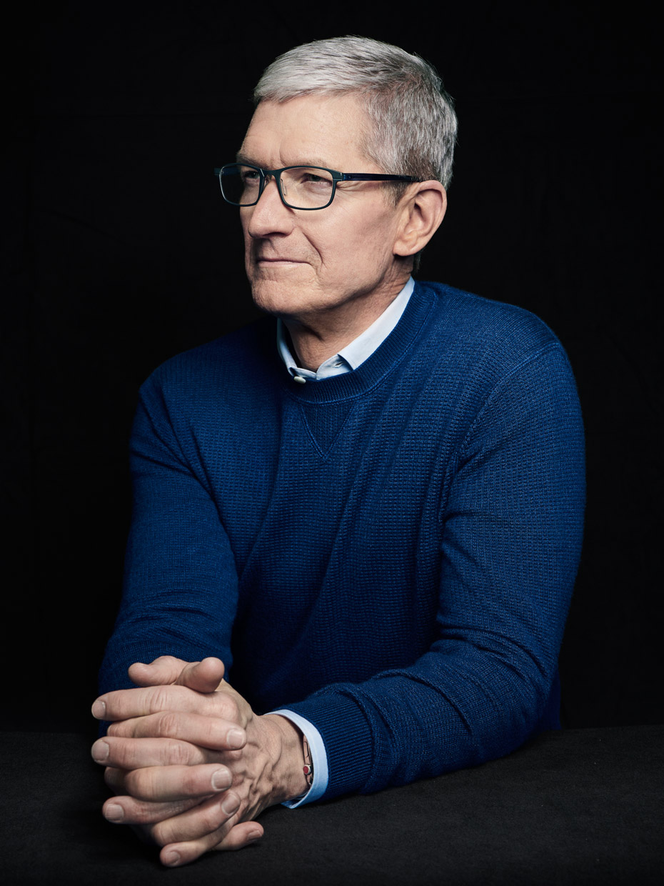 Tim Cook, CEO of Apple. The Times Magazine.